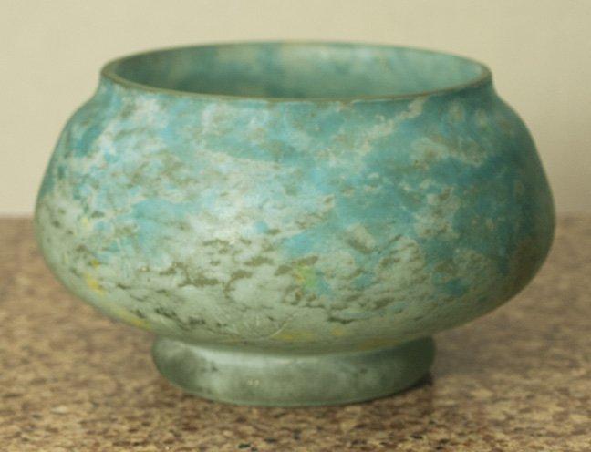 "Signed Daum Nancy Vase-bowl, 3,5"" x 5,5"""