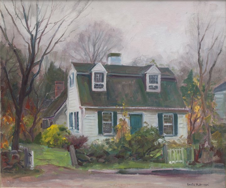 """Emile Gruppe, Cottage, 25"""" x 30"""", oil on canvas."""
