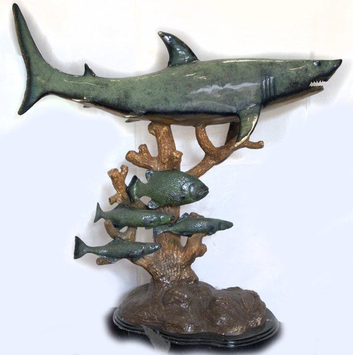 "Massive Bronze Shark, 34"" long."