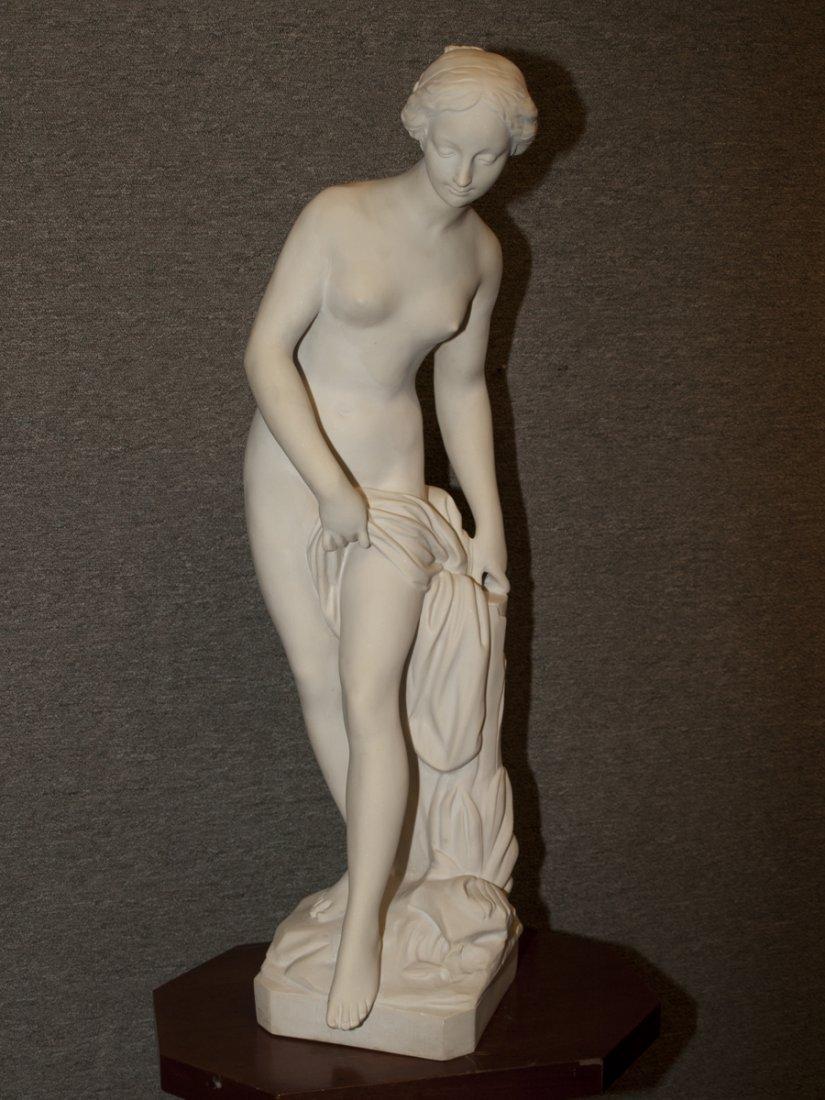 "Bathing Venus, Cultured Marble, 33"" tall"