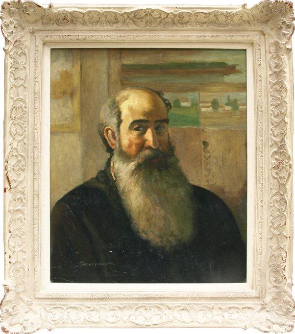 "James Colman Portrait of Camille Pissarro, 24"" x 20""."