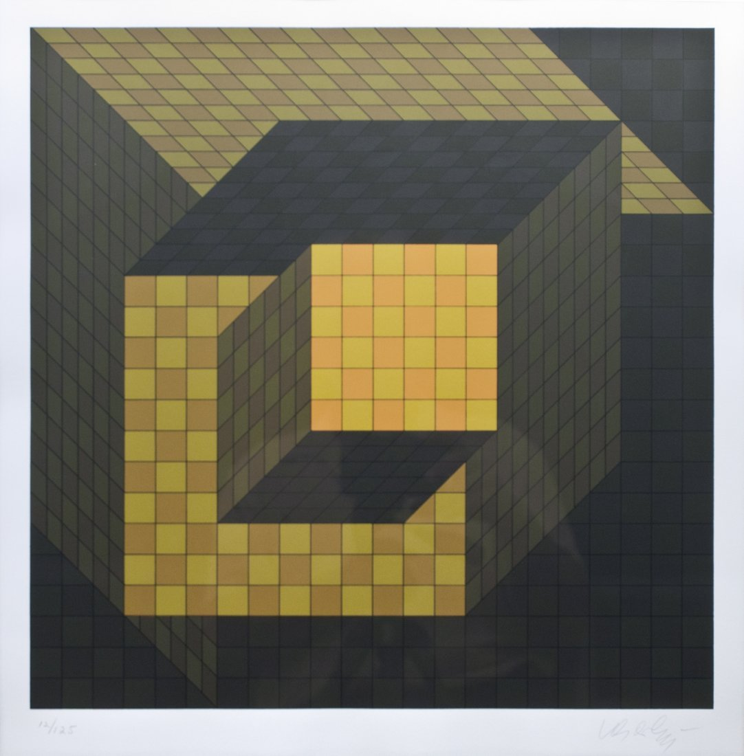 "Victor Vasarely ""Optical Cube"""