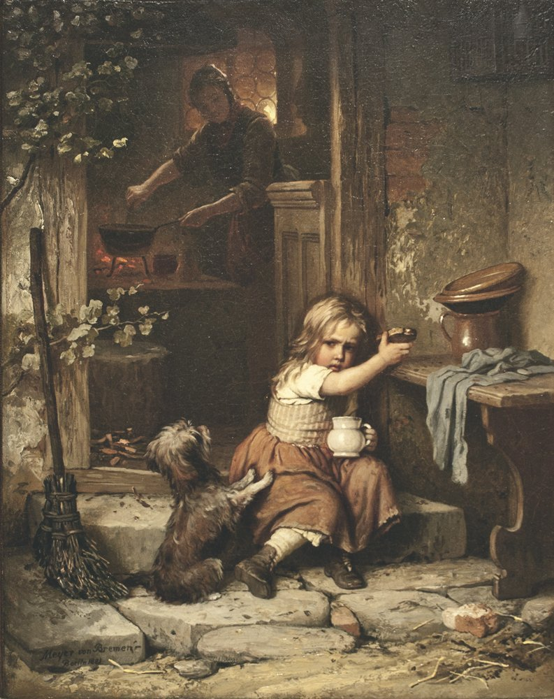 """Meyer von Bremen """"Not My Bread"""", Oil/Canvas, 20"""" x 16"""""""