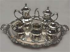 Sterling Silver 6 piece Tea & Coffee Set by Poole