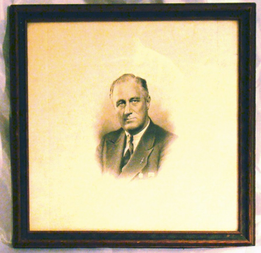 Lithograph of Franklin Roosevelt