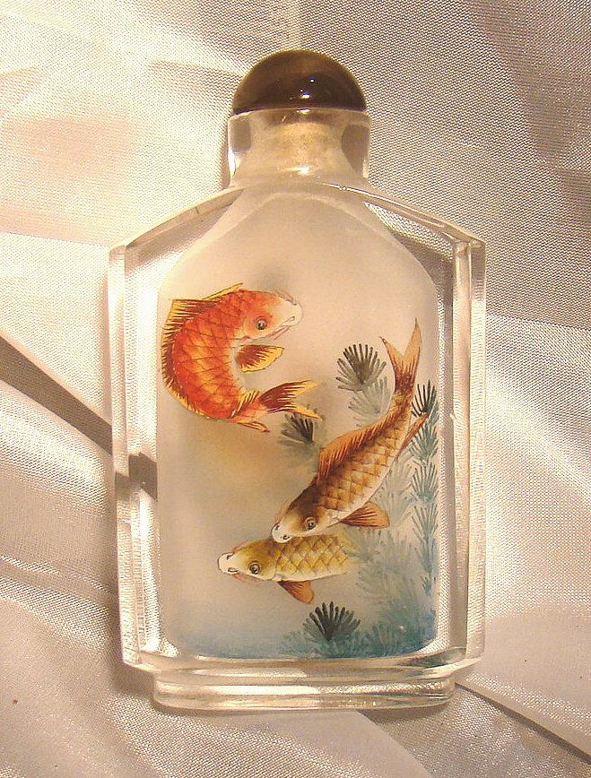 Hand Painted Japanese Snuff Bottle (A)
