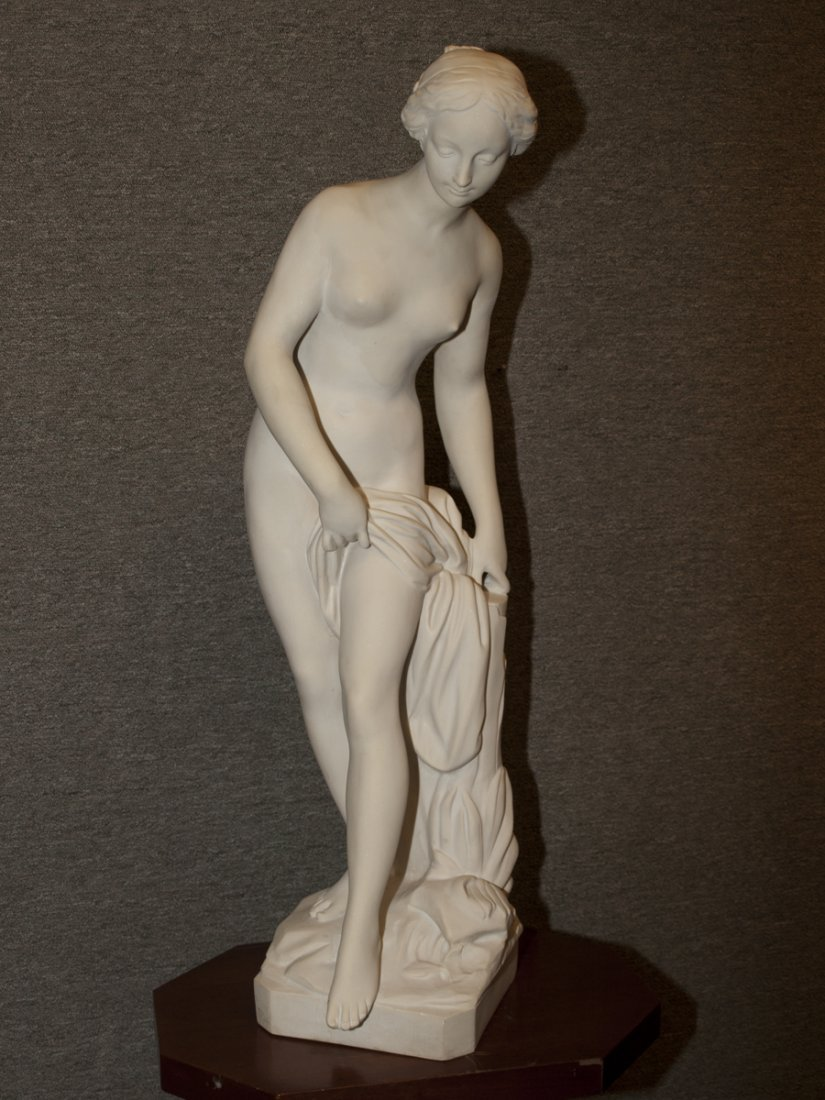 "Bathing Venus, Cultured Marble, 33"" tall"