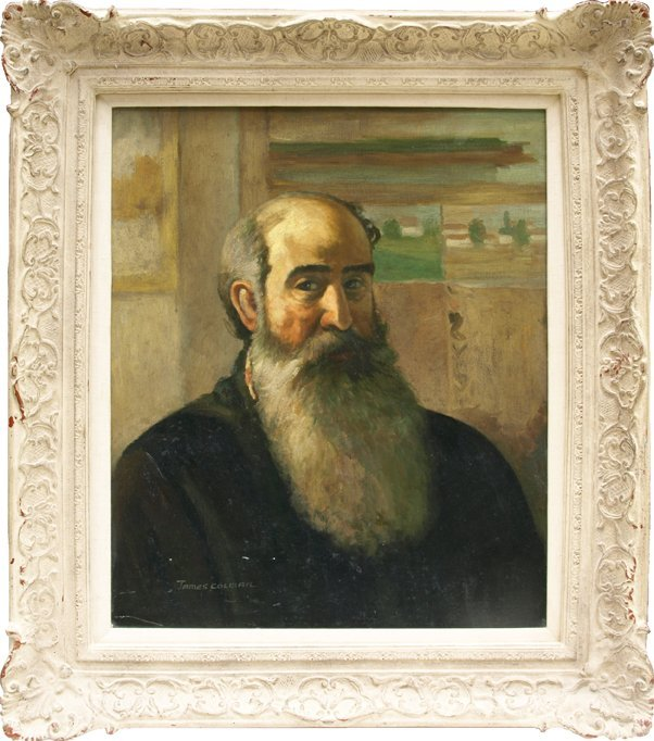 James Colman Portrait of Camille Pissarro, oil on canv.