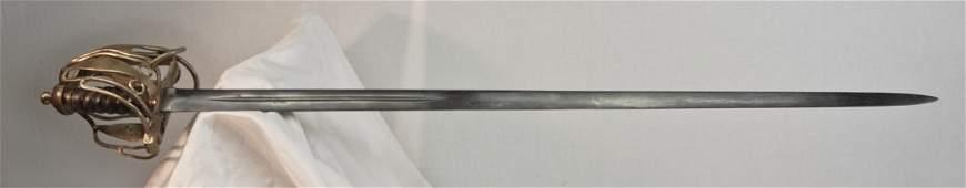 English Basket Hilt Sword, 18 century