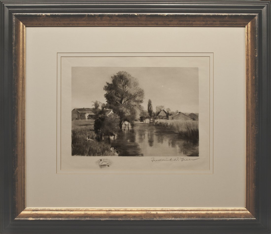 Frederick Freer Signed Etching.