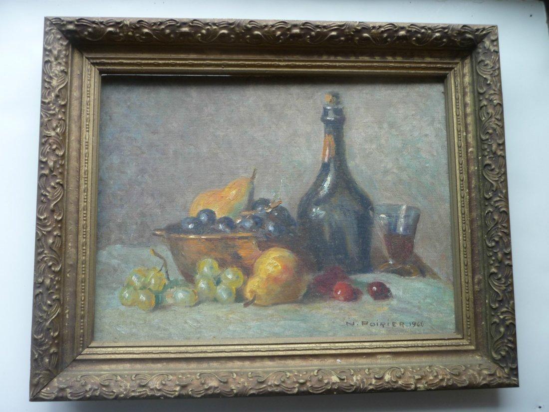 Narcisse Poirier (1883-1984), Antiquite et fruits 1966