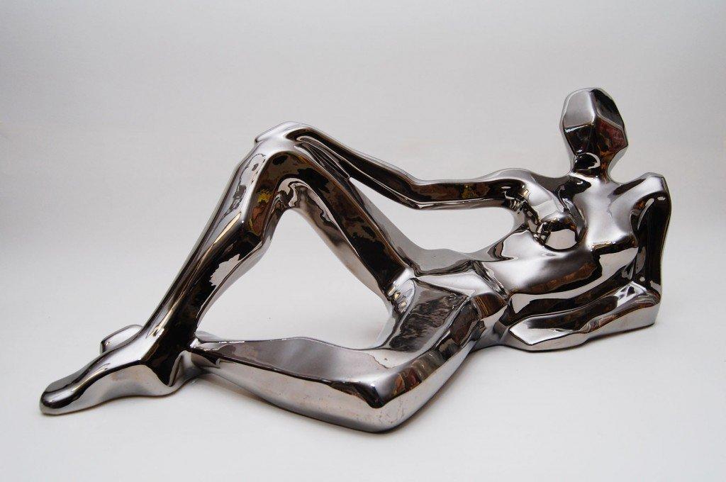 Jaru Nude Silver Modernist Sculpture