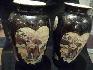 Pair of Japanese Export Porcelain Vases