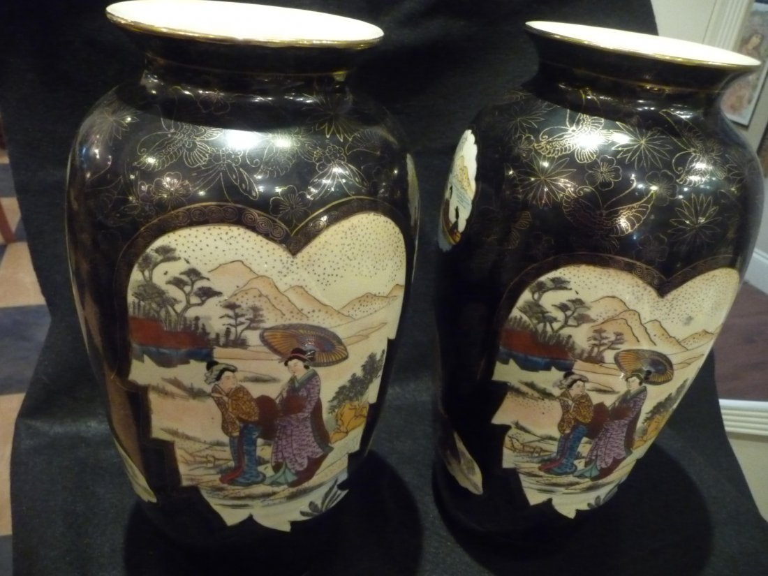 Pair of Japanese Export Porcelain Vases