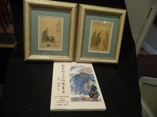 Pair of Water Color James Yeh-Jau Liu with Autographed