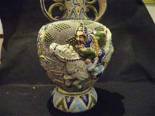 Japanese Moriage Vase