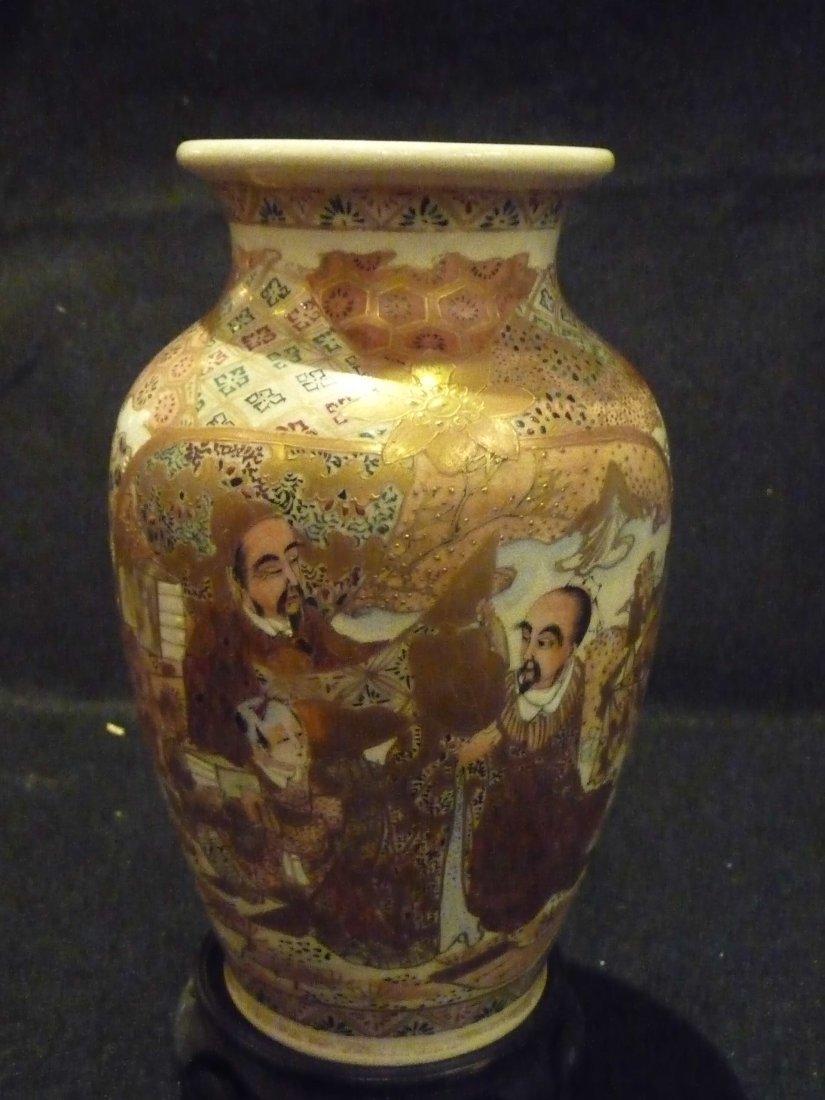 Japanese 19th Century Pottery Satsuma Vase