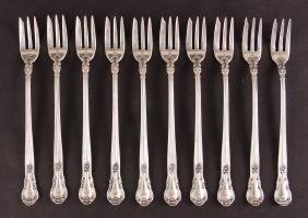 Ten Gorham Chantilly Oyster Forks