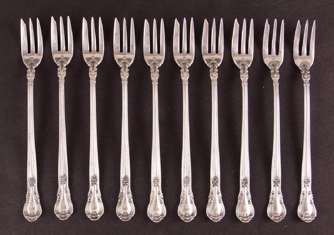 Ten Gorham Chantilly Oyster Forks