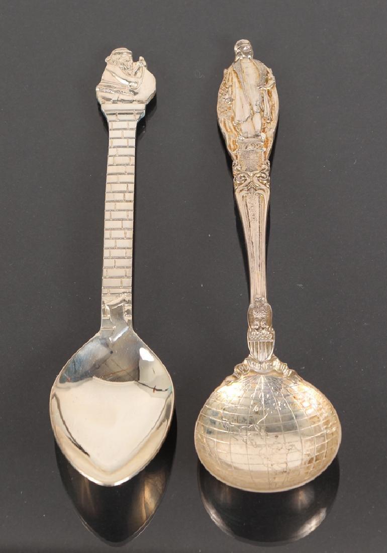 Seven Tiffany Sterling Souvenir Spoons - 3