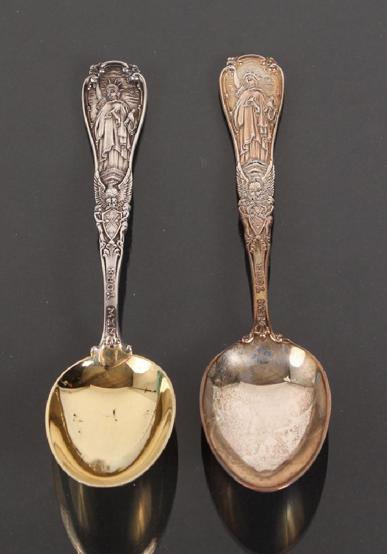 Seven Tiffany Sterling Souvenir Spoons - 5