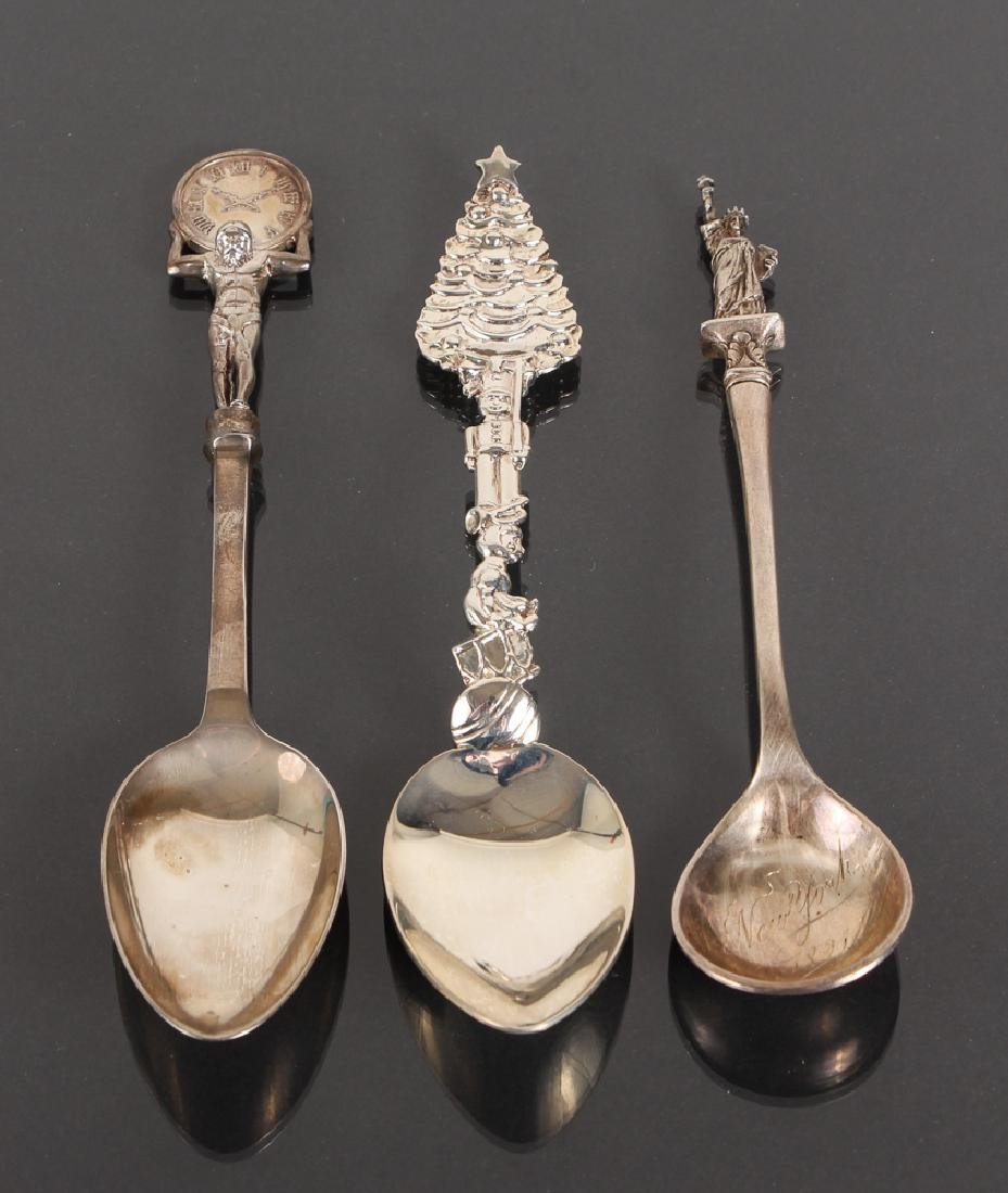 Seven Tiffany Sterling Souvenir Spoons - 7