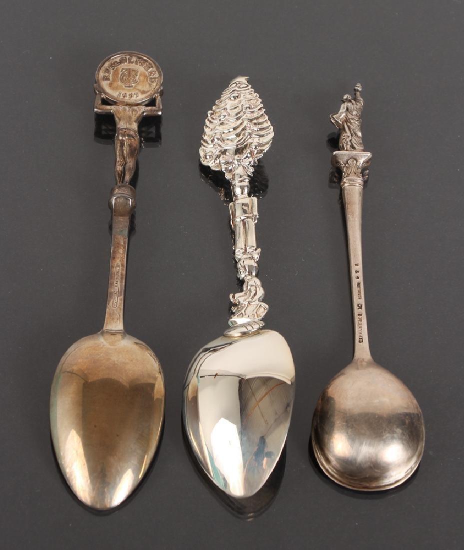 Seven Tiffany Sterling Souvenir Spoons - 8