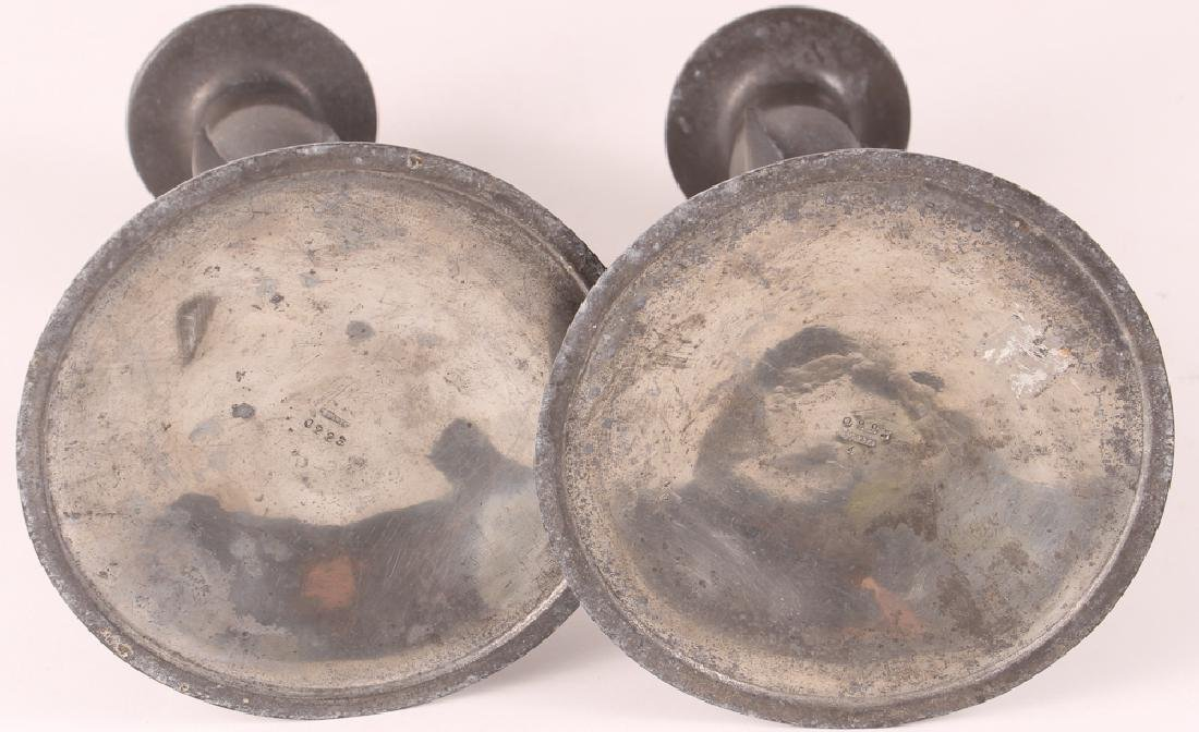 Knox Tudric Pewter Arts And Crafts Candlesticks - 4