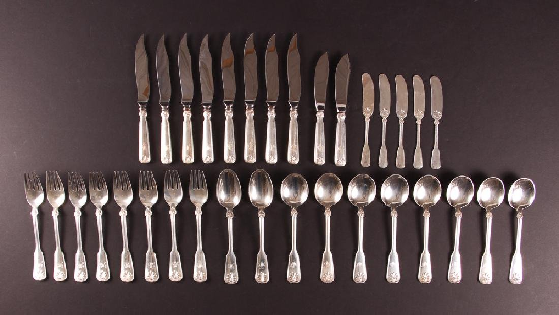 Tiffany Sterling Flatware Shell and Thread Pattern