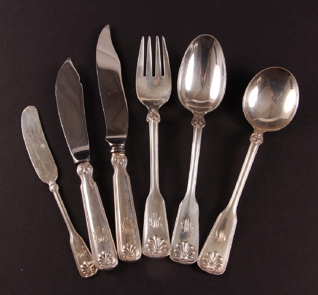 Tiffany Sterling Flatware Shell and Thread Pattern - 3