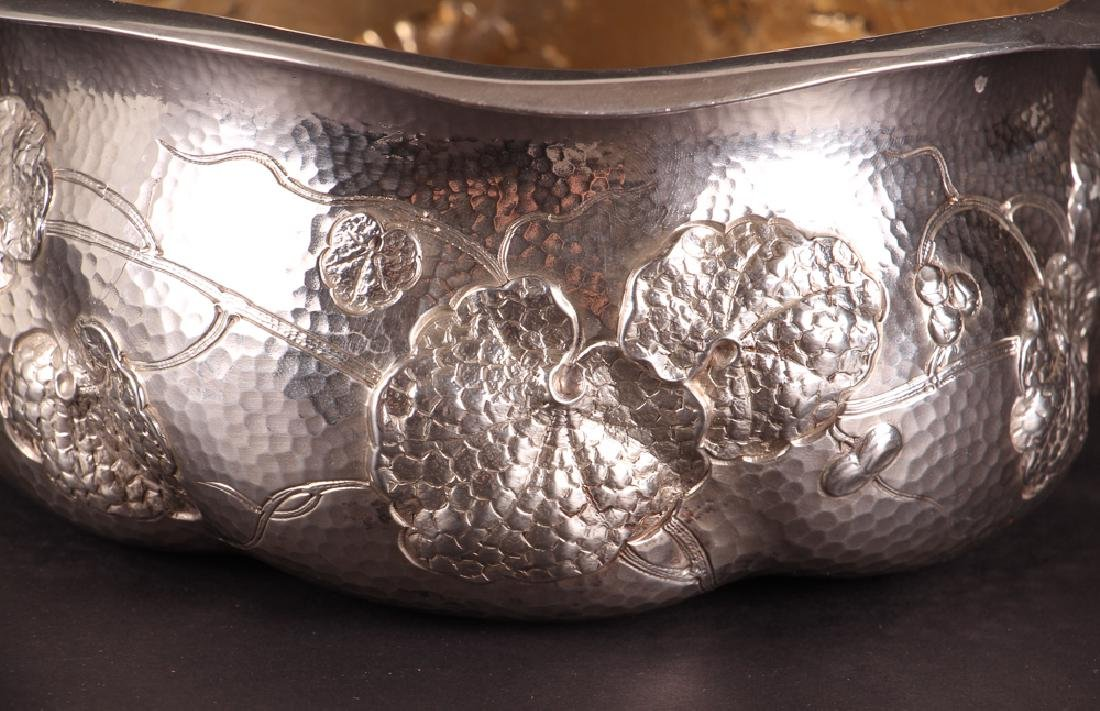 Dominick and Haff Hammered Sterling Bowl 1882 - 3