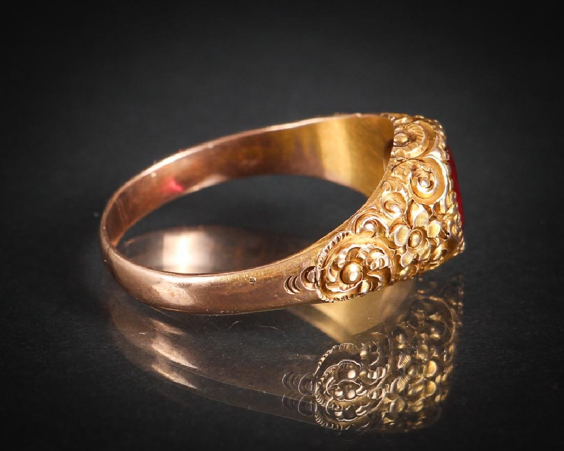 Victorian 14K Gold Ring - 2