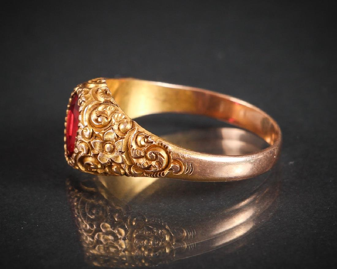 Victorian 14K Gold Ring - 4