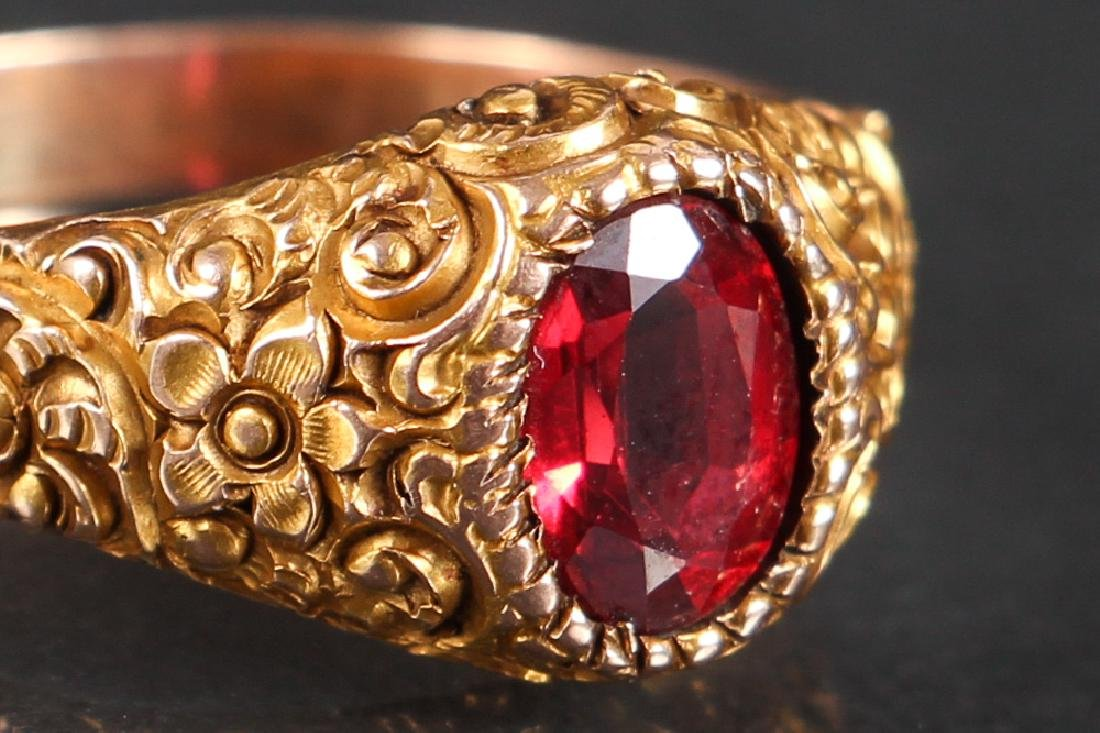 Victorian 14K Gold Ring - 5