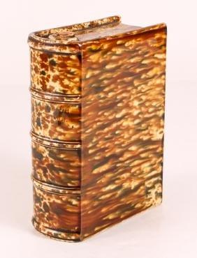 Bennington Flint Enamel Pottery Book Flask