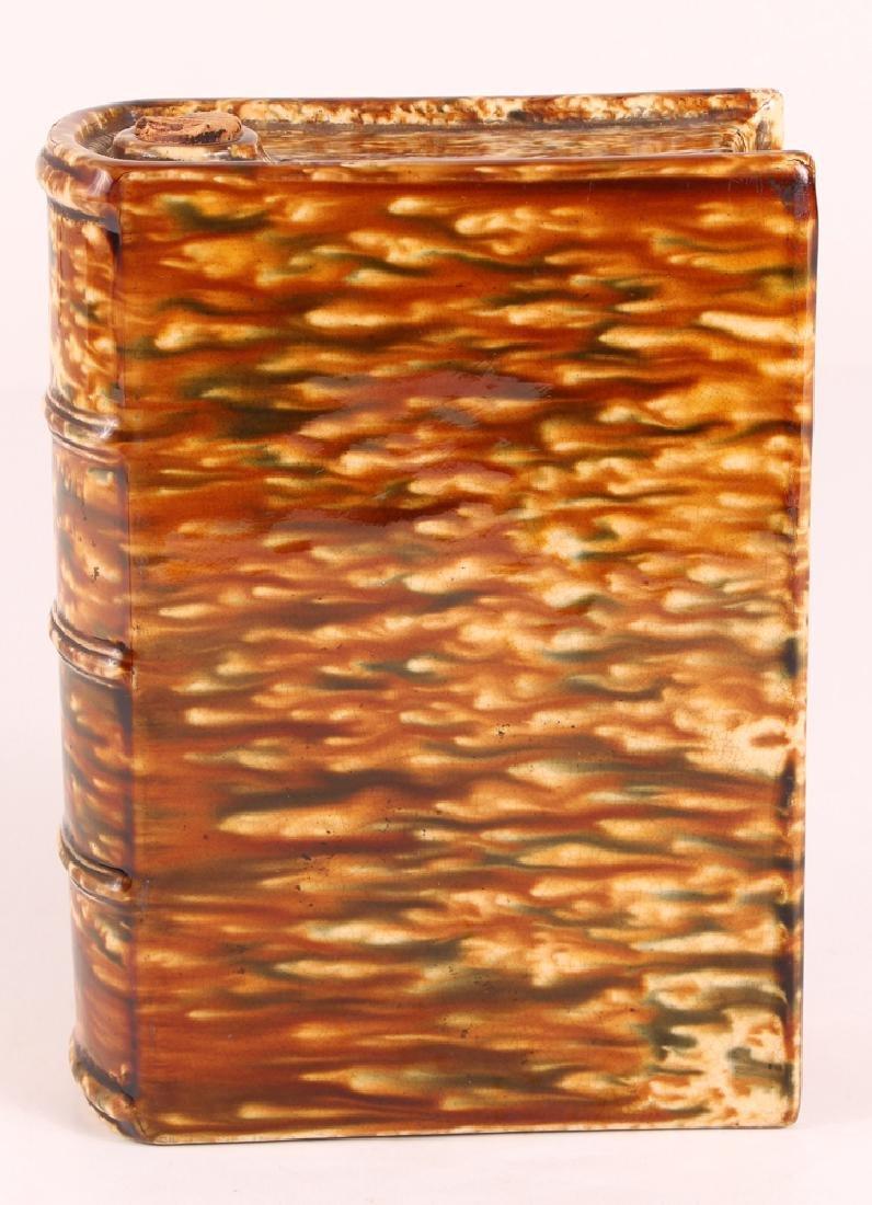 Bennington Flint Enamel Pottery Book Flask - 2