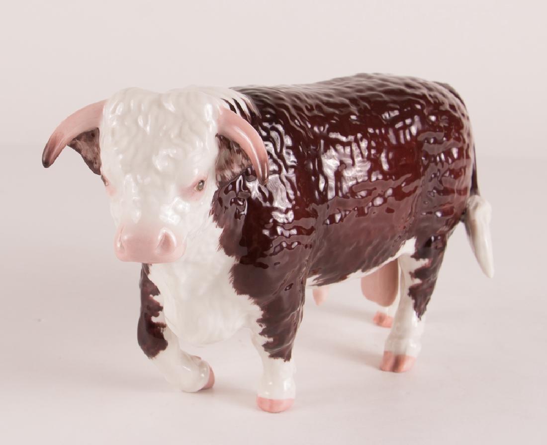 Boehm Porcelain Hereford Bull - 2