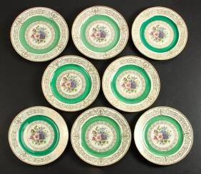 Eight Rosenthal China Floral Decorated Plates