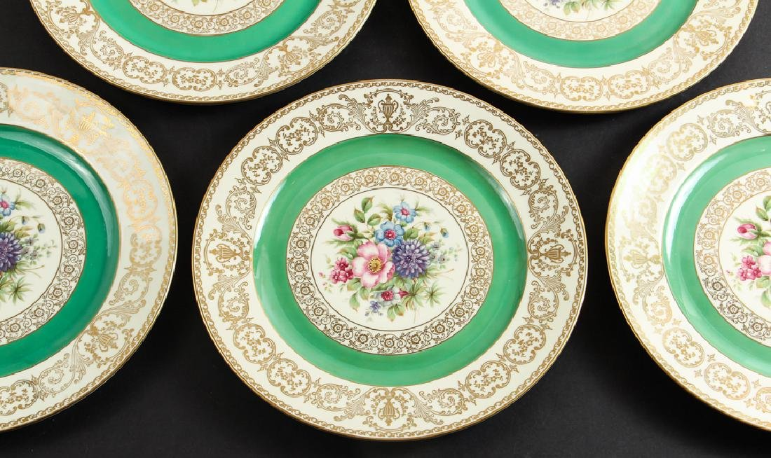 Eight Rosenthal China Floral Decorated Plates - 2