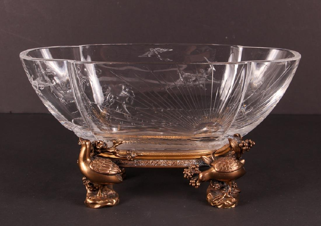 Baccarat Bronze Mount Art Nouveau Bowl - 3