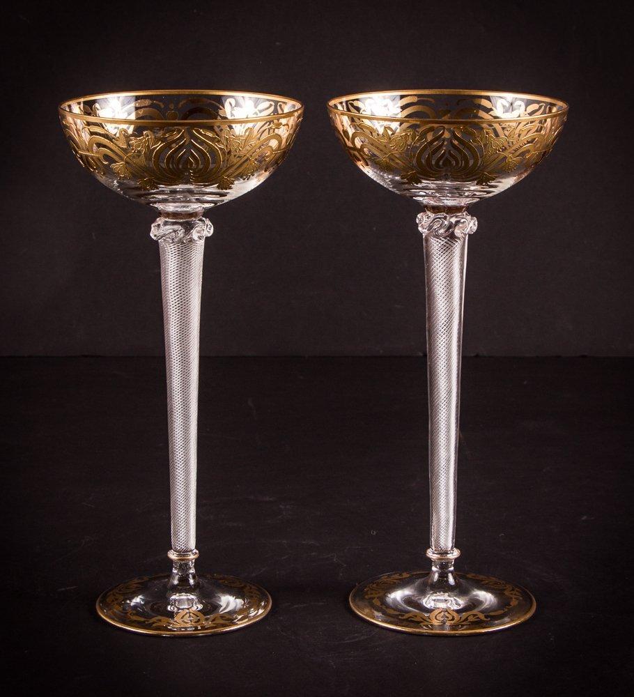 Two Venetian Glass Goblets - 2