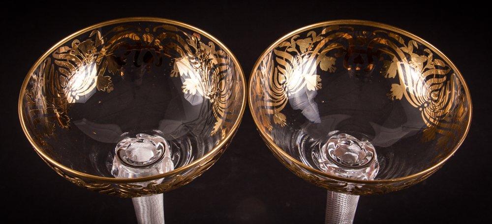 Two Venetian Glass Goblets - 3