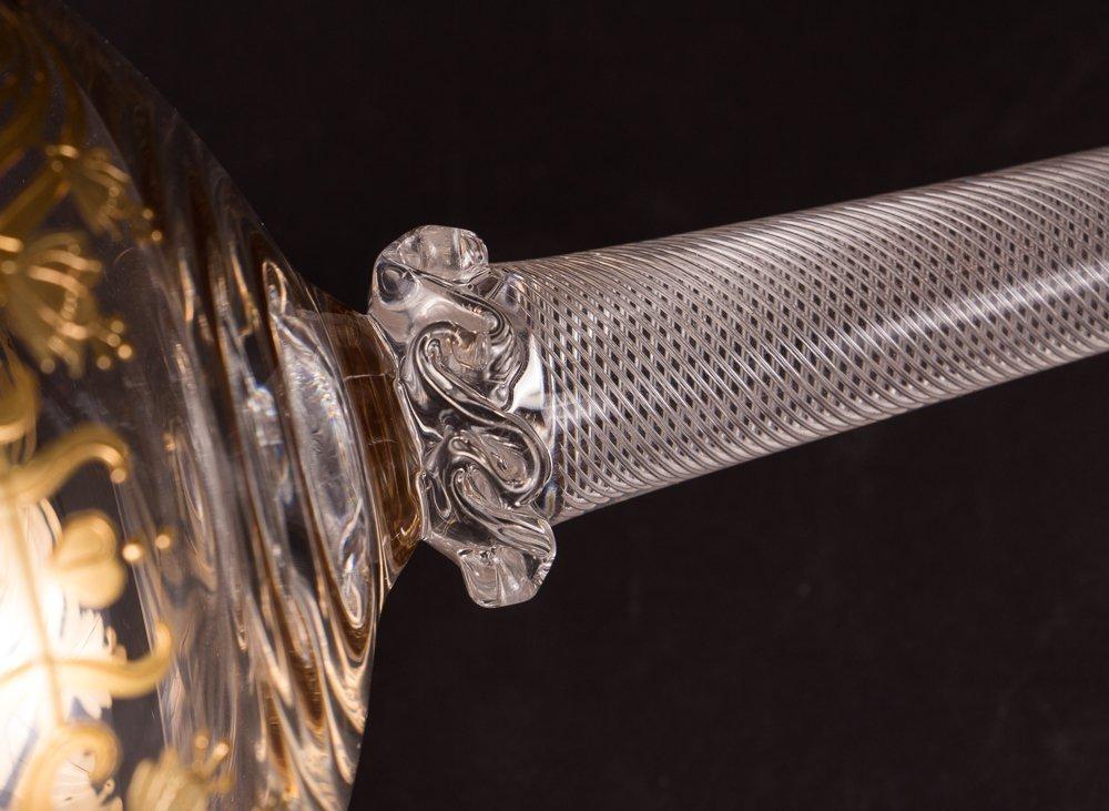 Two Venetian Glass Goblets - 4