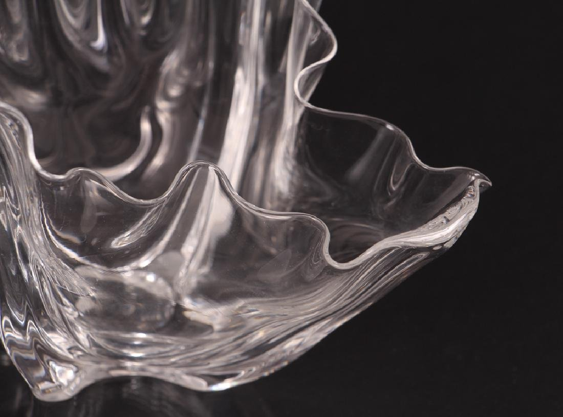 Steuben Signed Glass Grotesque Crystal Bowl - 5