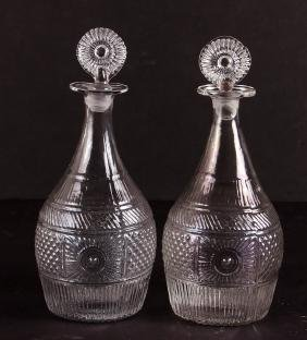 Early American Mold Blown Decanters