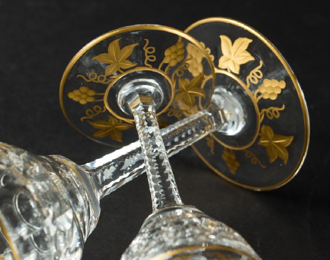 Twenty Six Val St Lambert Gold Encrusted Stemware - 6