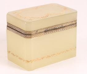 French Clambroth Opaline Box