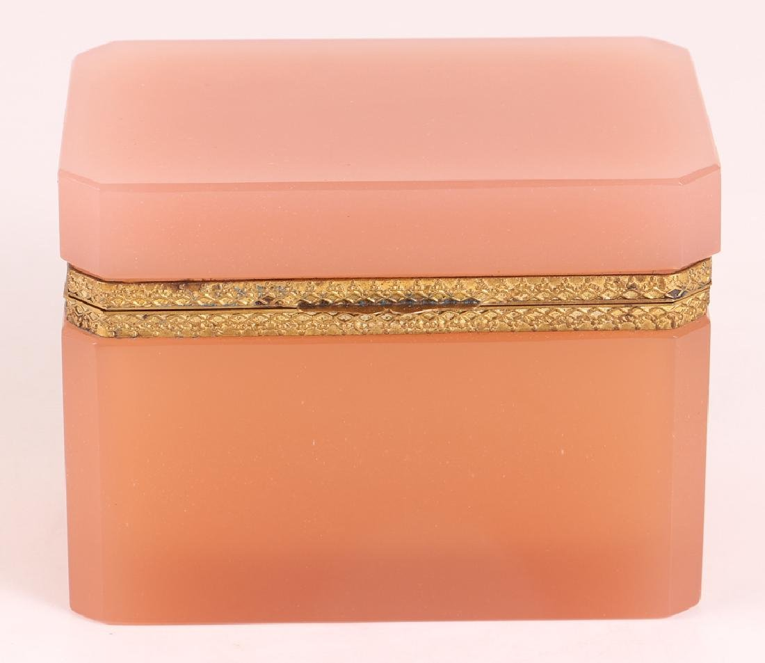 French Pink Opaline Glass Box - 2