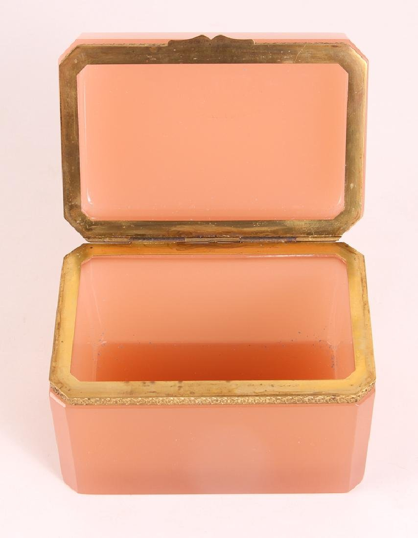 French Pink Opaline Glass Box - 3