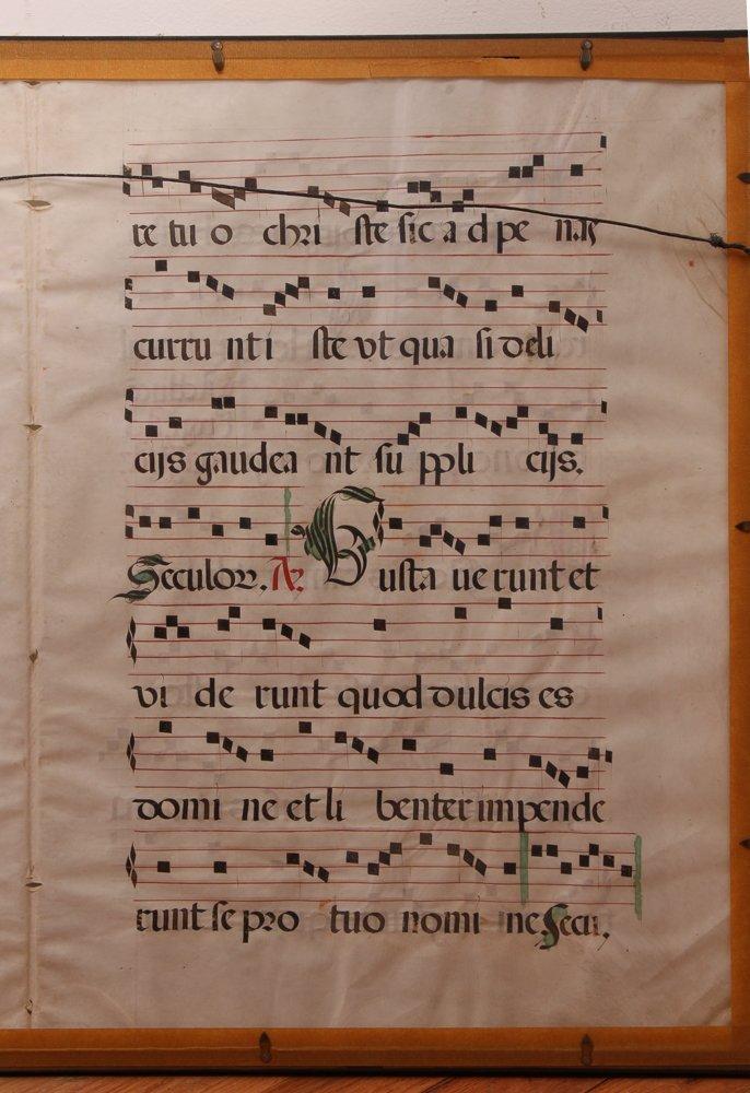 Illuminated Gregorian Musical Manuscript - 10